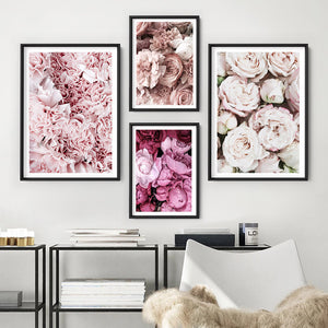 Light Roses | Sea of Flowers - Art Print, Stretched Canvas or Framed Canvas Wall Art, Shown framed in a room mockup