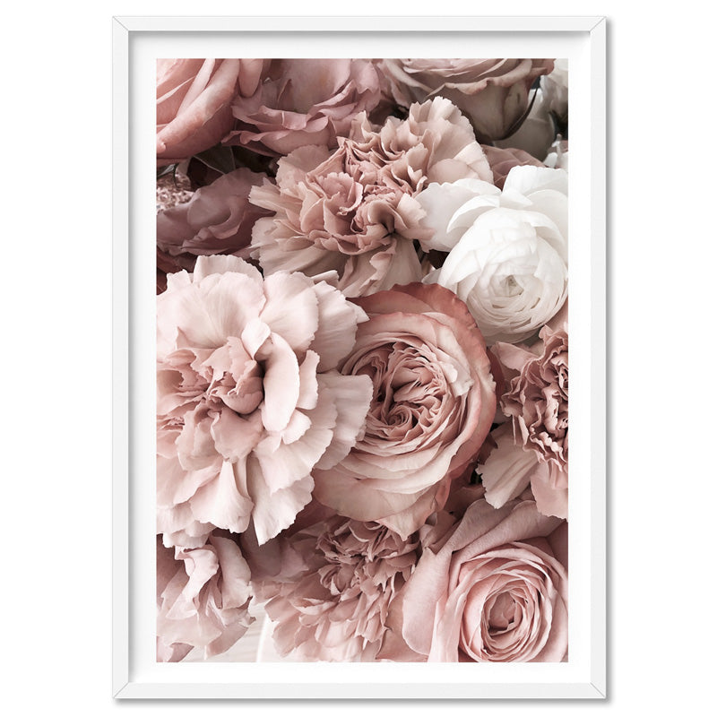 Blush Florals | Sea of Flowers - Art Print