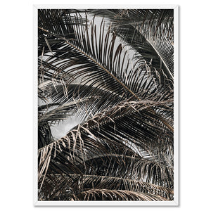 Monochrome Palm View - Art Print, Stretched Canvas, or Framed Canvas Wall Art