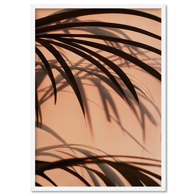 Burnt Orange Palms View - Art Print, Stretched Canvas, or Framed Canvas Wall Art