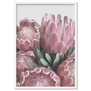 Load image into Gallery viewer, Queen Protea Stack - Art Print, Stretched Canvas, or Framed Canvas Wall Art