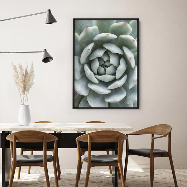 Succulent V3 - Art Print, Stretched Canvas, or Framed Canvas Wall Art