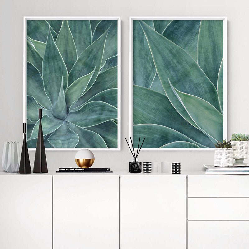Agave Detail I - Art Print, Stretched Canvas or Framed Canvas Wall Art, Shown inside a frame