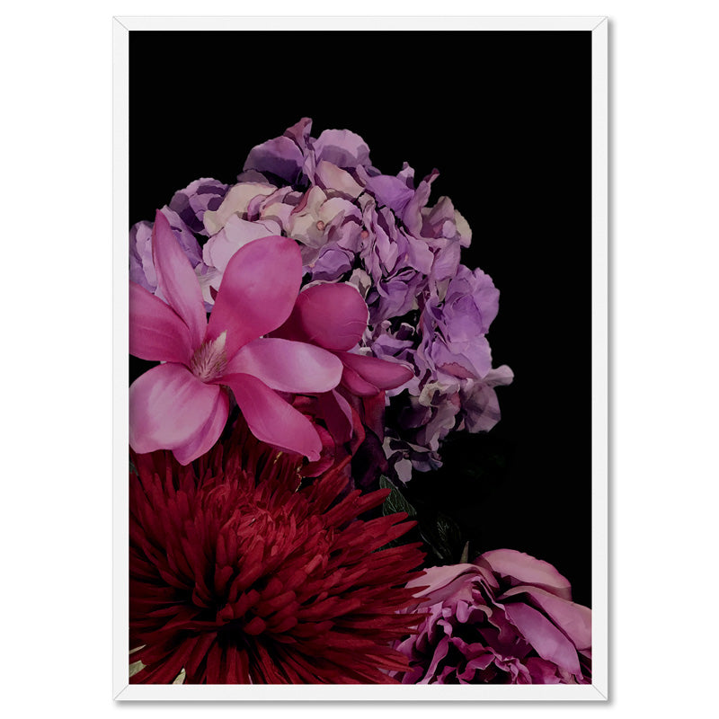 Dark Floral II - Art Print, Stretched Canvas, or Framed Canvas Wall Art
