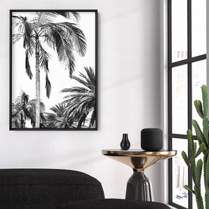 Palms Black & White - Art Print