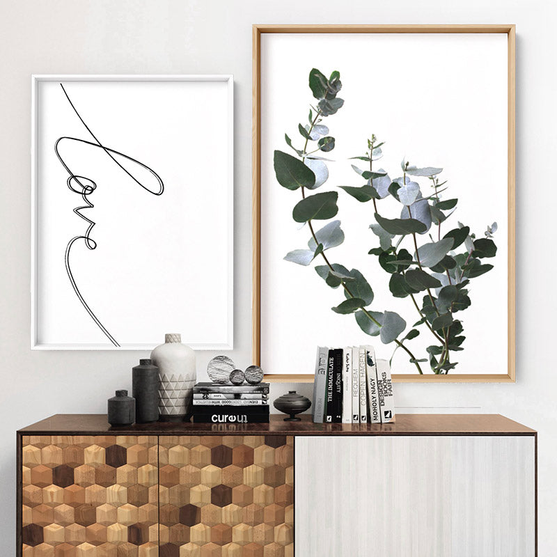 Eucalyptus Gum Leaves I  - Art Print, Stretched Canvas, or Framed Canvas Wall Art