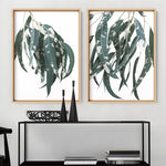 Spotty Gumtree Leaves II - Art Print, Stretched Canvas or Framed Canvas Wall Art, Shown inside a frame