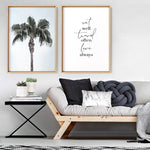 California Coastal Palm Tree Portrait - Art Print, Stretched Canvas, or Framed Canvas Wall Art