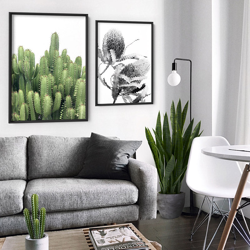 Cactus Towers / African Milk Tree - Art Print, Stretched Canvas, or Framed Canvas Wall Art