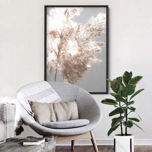 Load image into Gallery viewer, Pampas Grass Ethereal Light II - Art Print, Stretched Canvas or Framed Canvas Wall Art, Shown inside a frame