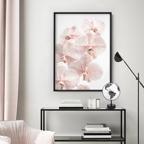 Blushing Orchid Blooms I - Art Print, Stretched Canvas, or Framed Canvas Wall Art