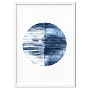 Load image into Gallery viewer, Shibori Indigo Tie Dye VI - Art Print, Stretched Canvas, or Framed Canvas Wall Art