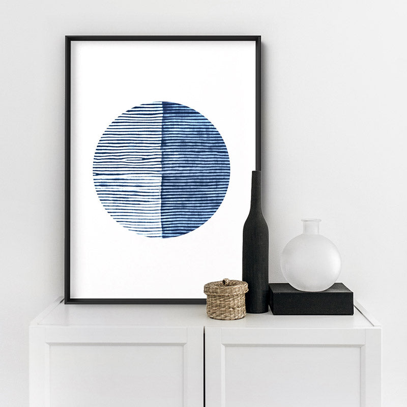 Load image into Gallery viewer, Shibori Indigo Tie Dye VI - Art Print
