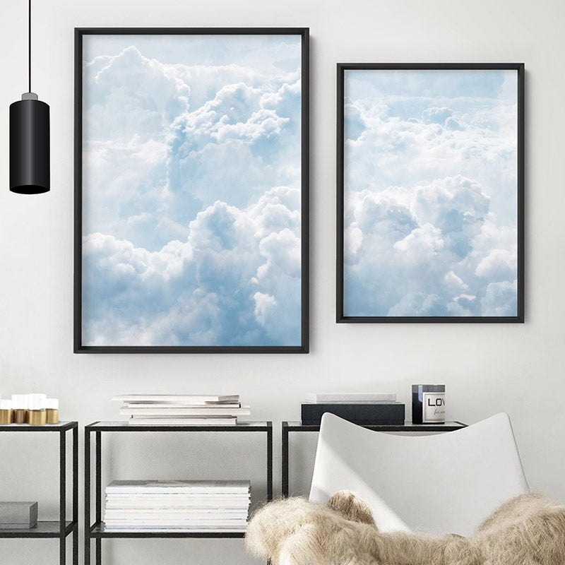 White Clouds in Blue Sky II - Art Print, Stretched Canvas, or Framed Canvas Wall Art