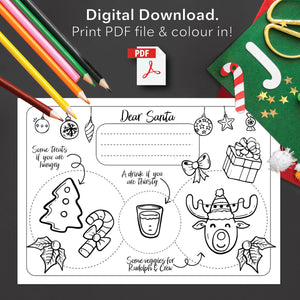 Load image into Gallery viewer, Santa Activity Placemat (Digital Download)