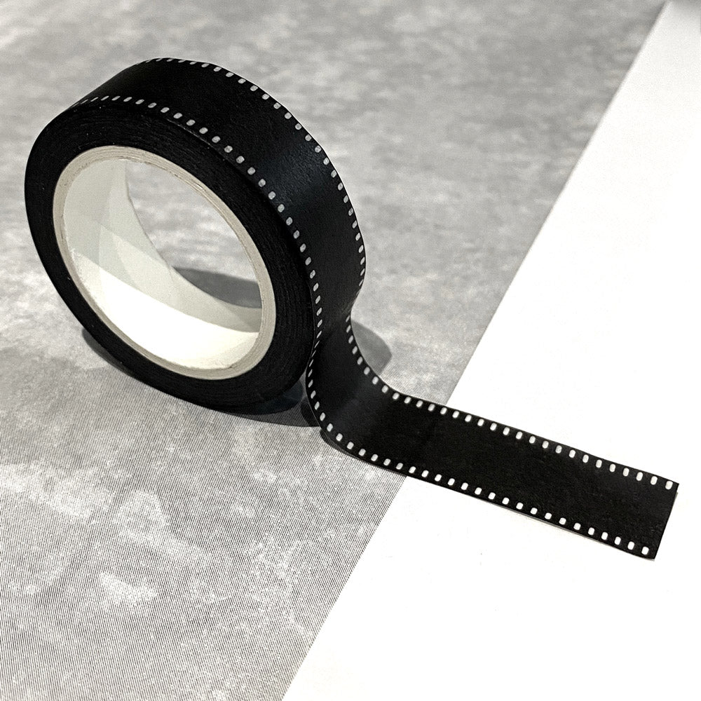 Washi Tape in Black & White Stitching Design