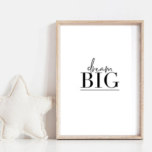 Dream Big - Art Print, Stretched Canvas, or Framed Canvas Wall Art