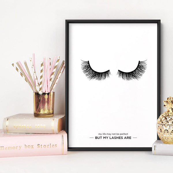 Perfect Eyelashes - Art Print, Stretched Canvas, or Framed Canvas Wall Art