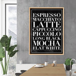 The Coffee List (blk) - Art Print, Stretched Canvas, or Framed Canvas Wall Art