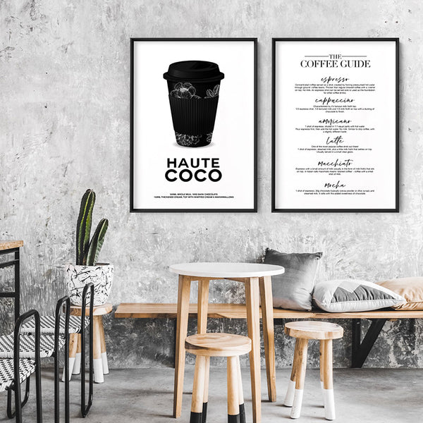 The Coffee Guide - Art Print, Stretched Canvas, or Framed Canvas Wall Art