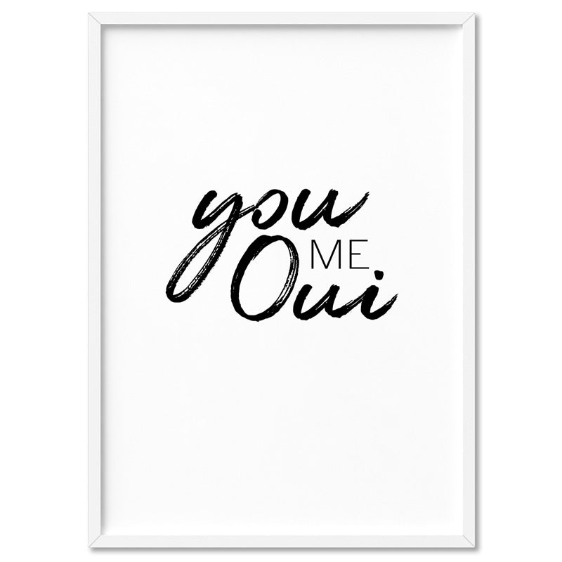 You Me Oui - Art Print, Stretched Canvas, or Framed Canvas Wall Art