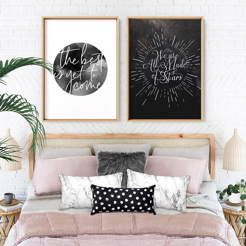 We are all Made of Stars - Art Print, Stretched Canvas or Framed Canvas Wall Art, Shown inside a frame