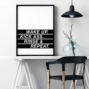 Load image into Gallery viewer, Wake Up, Kick Ass, Rinse & Repeat - Art Print