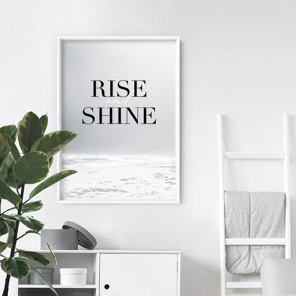 Rise and Shine - Art Print, Stretched Canvas, or Framed Canvas Wall Art