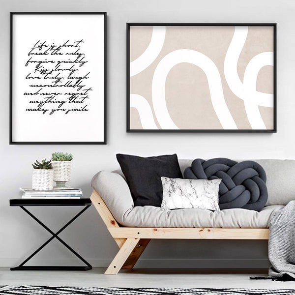 Life is Short Poem - Art Print, Stretched Canvas, or Framed Canvas Wall Art