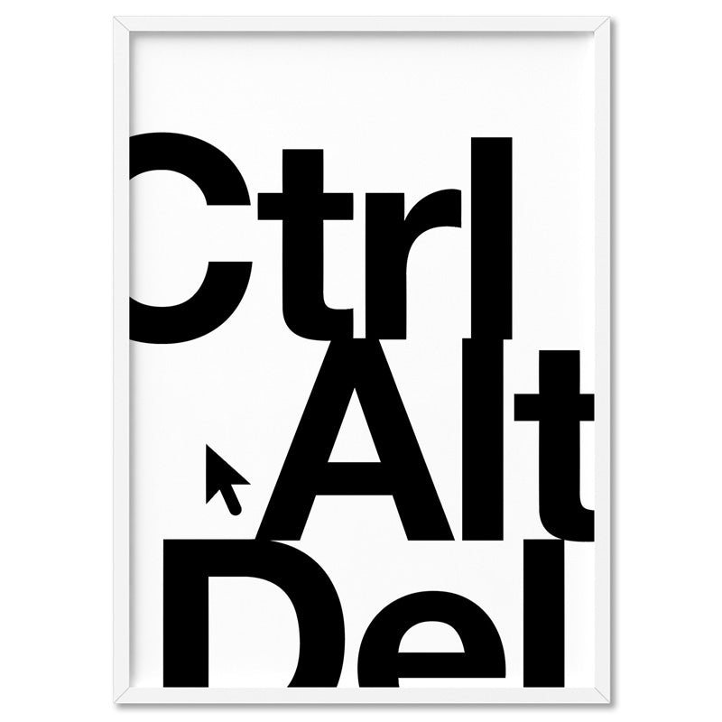 CTRL ALT DEL - Art Print, Stretched Canvas, or Framed Canvas Wall Art