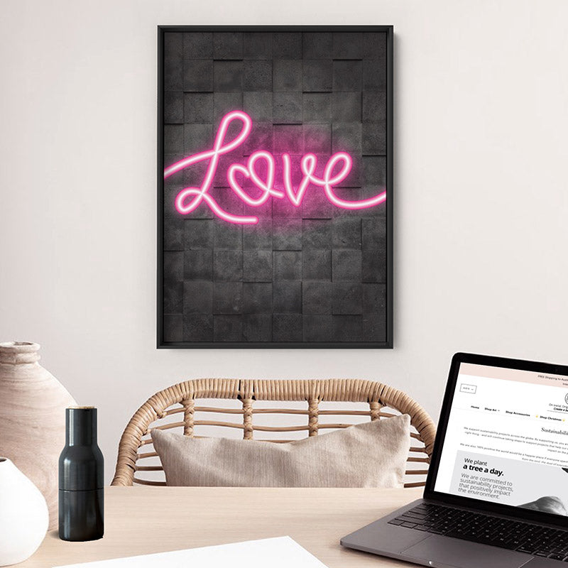 Load image into Gallery viewer, Love Neon - Art Print
