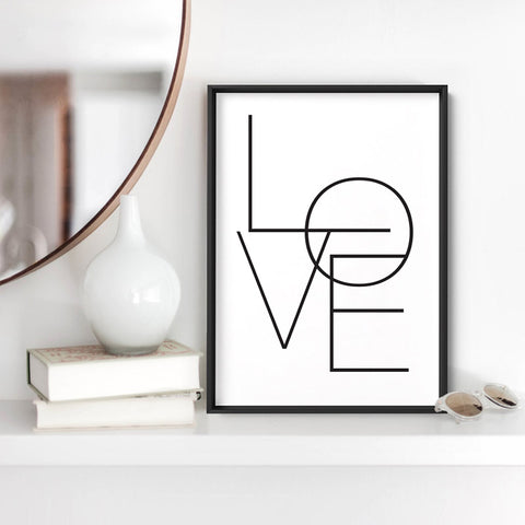 LOVE in Blush - Art Print, Stretched Canvas, or Framed Canvas Wall Art