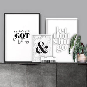 Let That Shit Go - Art Print, Stretched Canvas or Framed Canvas Wall Art, Shown framed in a room mockup