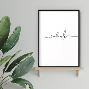 Inhale - Art Print, Stretched Canvas, or Framed Canvas Wall Art
