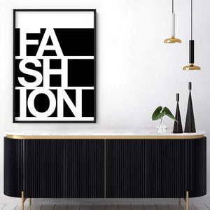 FASHION (black) - Art Print, Stretched Canvas, or Framed Canvas Wall Art