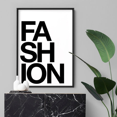 FASHION (white) - Art Print, Stretched Canvas, or Framed Canvas Wall Art