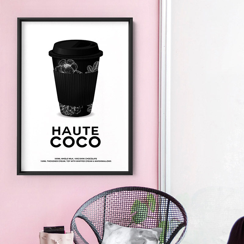 Haute Coco - Art Print, Stretched Canvas or Framed Canvas Wall Art, Shown inside a frame