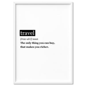 Travel Definition - Art Print, Stretched Canvas, or Framed Canvas Wall Art