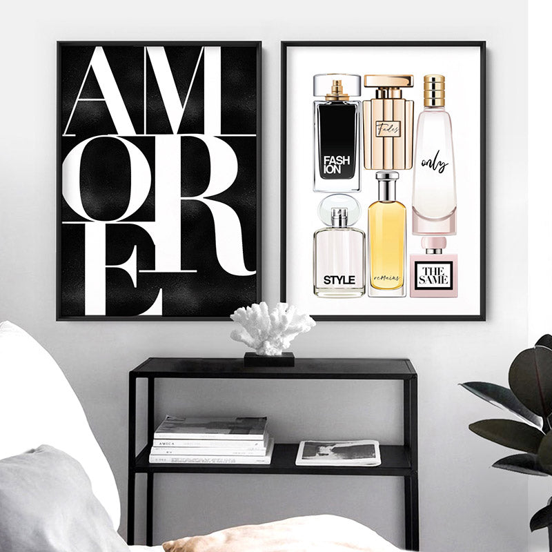 Amore - Art Print, Stretched Canvas or Framed Canvas Wall Art, Shown framed in a room mockup