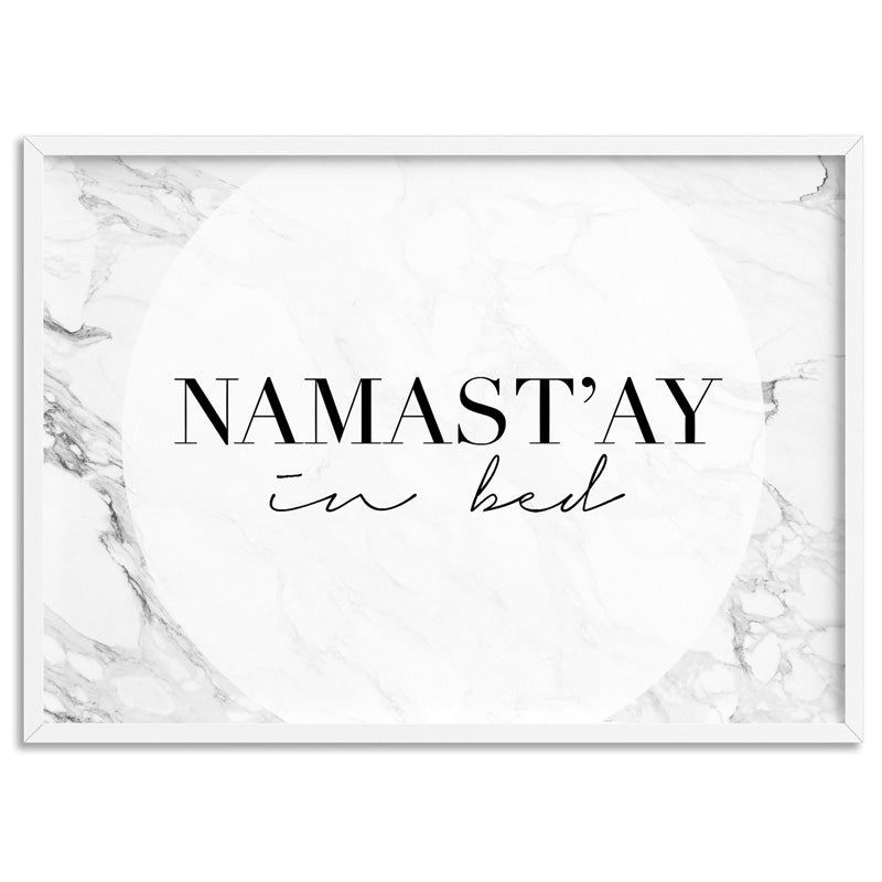 Namastay in Bed - Art Print