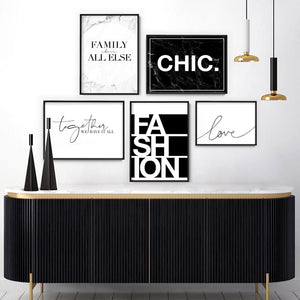 CHIC Word Typography - Art Print