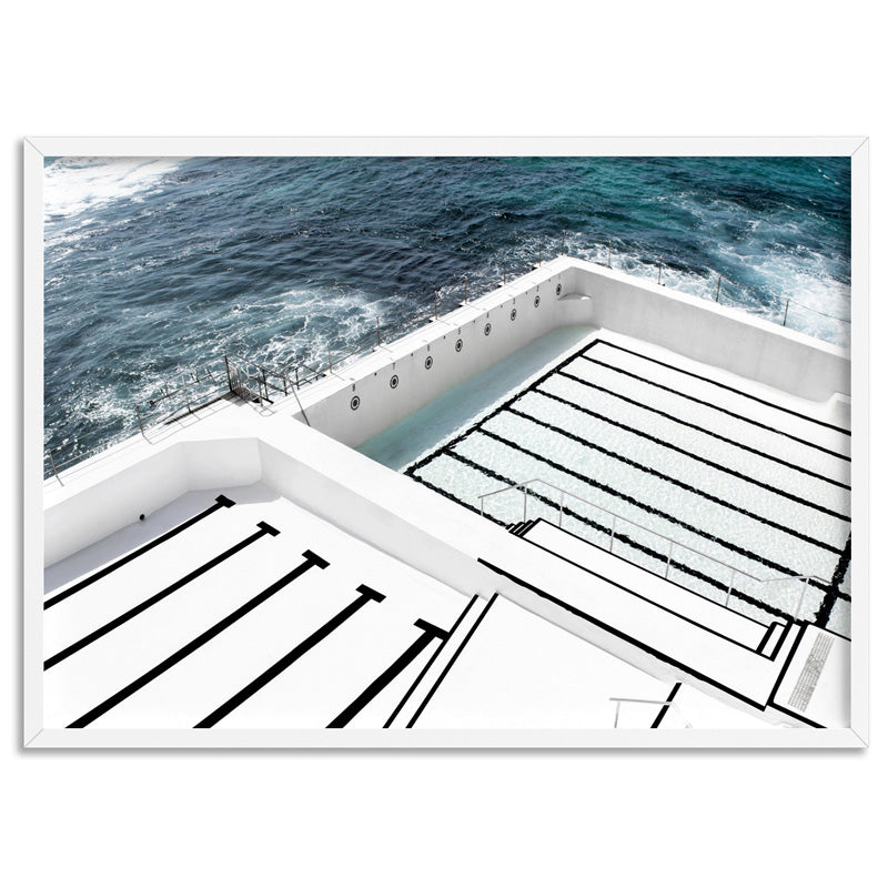 Bondi Icebergs Pool I - Art Print, Stretched Canvas, or Framed Canvas Wall Art