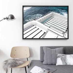Bondi Icebergs I - Art Print, Stretched Canvas, or Framed Canvas Wall Art
