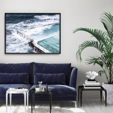 Bondi Icebergs II - Art Print, Stretched Canvas, or Framed Canvas Wall Art