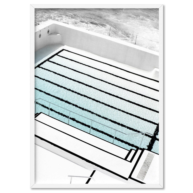 Bondi Icebergs III - Art Print, Stretched Canvas, or Framed Canvas Wall Art