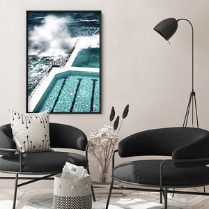 Bondi Icebergs IV - Art Print, Stretched Canvas, or Framed Canvas Wall Art
