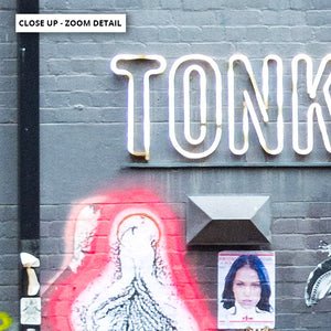 Melbourne Street Art / Hosier Lane TONKA - Art Print, Stretched Canvas or Framed Canvas Wall Art, Close up View of Print Resolution