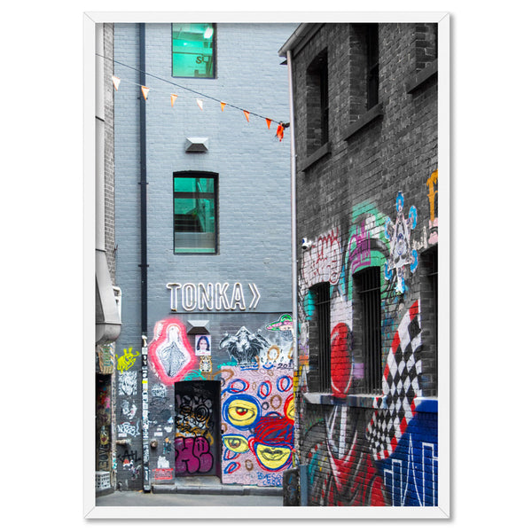 Melbourne Street Art / TONKA - Art Print, Stretched Canvas, or Framed Canvas Wall Art