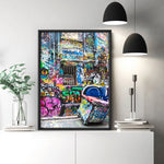 Melbourne Street Art / Hosier Lane Bin - Art Print, Stretched Canvas, or Framed Canvas Wall Art