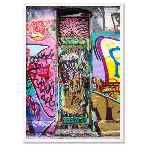 Load image into Gallery viewer, Melbourne Street Art / Hosier Lane Door II - Art Print, Stretched Canvas, or Framed Canvas Wall Art